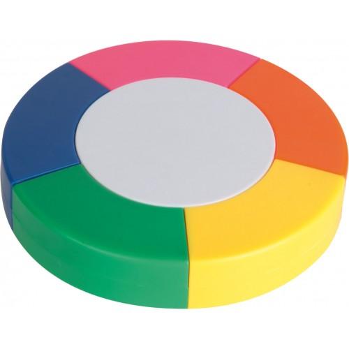 Evidenziatore tondo 5 colori