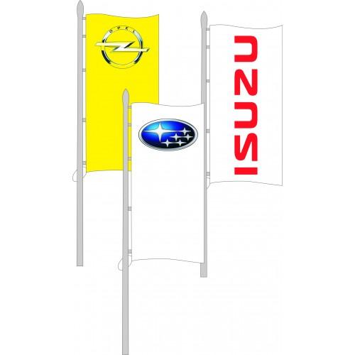 Bandiera verticale in poliestere