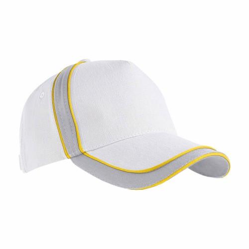 Cappellino con profili a contrasto