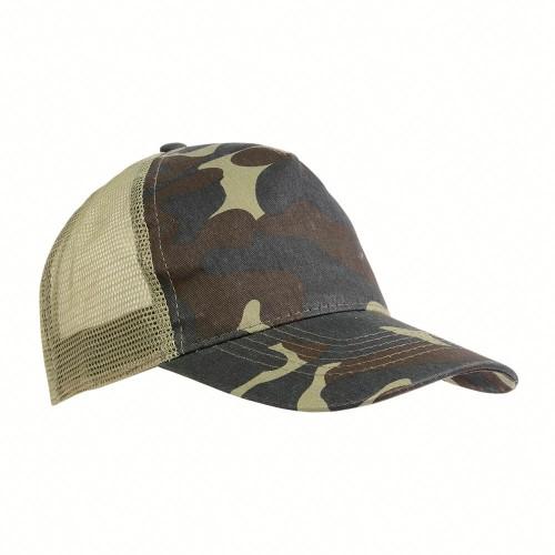 Cappellino mimetico con rete posteriore