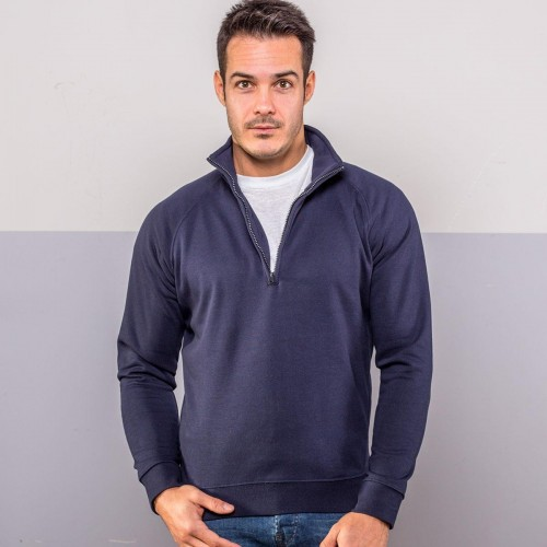 Raglan Zip neck sweat
