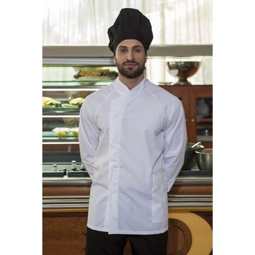 Giacca cuoco bianca antimacchia e idrorepellente