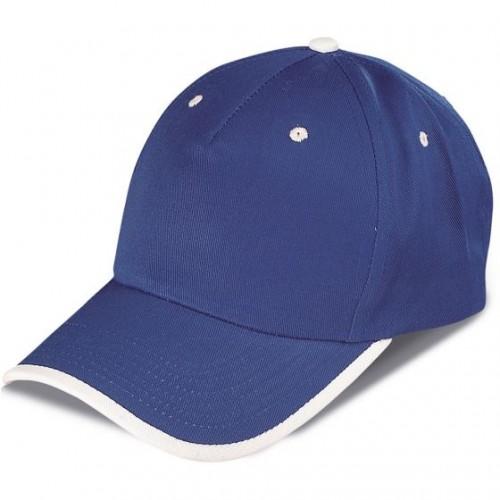 Cappellino con visiera bicolore