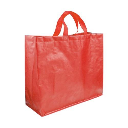 Shopper con soffietto in PP laminato opaco