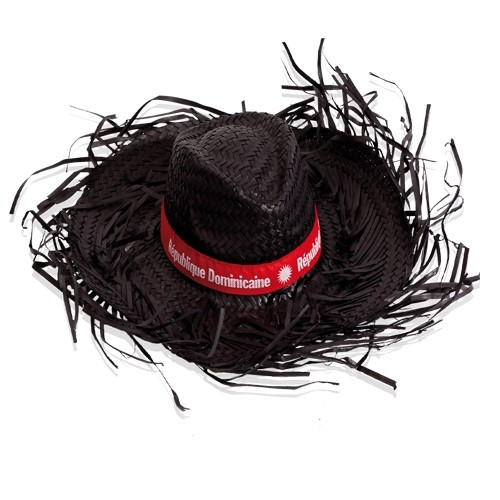 Cappello in paglia sfrangiato