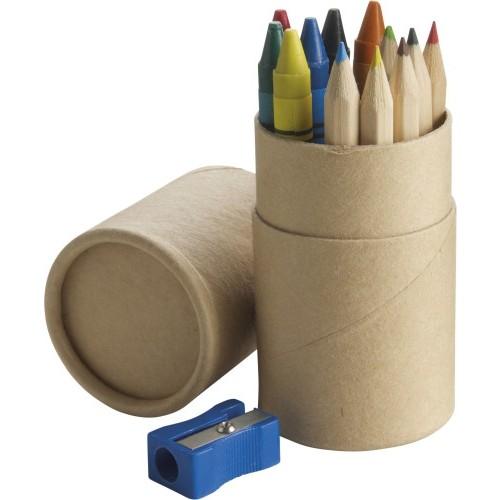 Set 6 matite e 6 pastelli